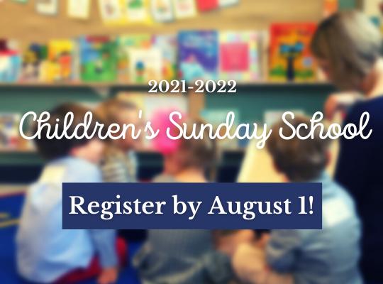 Sunday School Registration with Deadline website